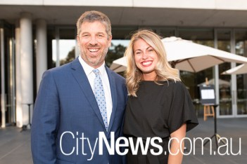 Law Council of Australia's outgoing CEO Jonathan Smithers, with wife Felicity