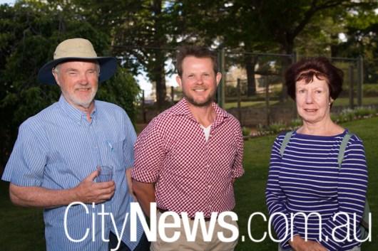 Toss Gascoigne, Allan McLean and Sue Ross