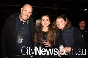 Chris Maher, Karina Hopkins and Annabel Scholes
