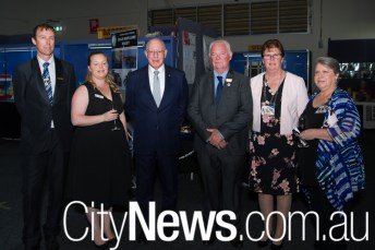 Andrew Price, Emma McDonald and Governor-General of Australia David Hurley with Rick and Kerrie Jones with Sharon Eakin