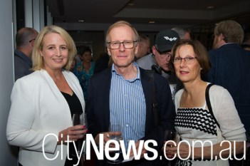Jacqueline Nagle with Andrew and Frederique Morris