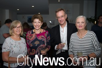 Maureen Adams and Sue Evens with Phillip and Jo Glyde
