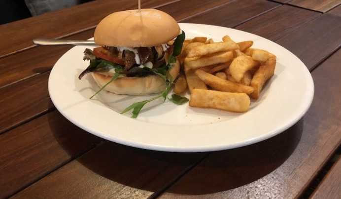 Pulled pork burger with apple slaw. Photo: Wendy Johnson