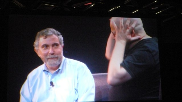Krugman: blowing our minds. Credit: Corey Doctorow, Flickr