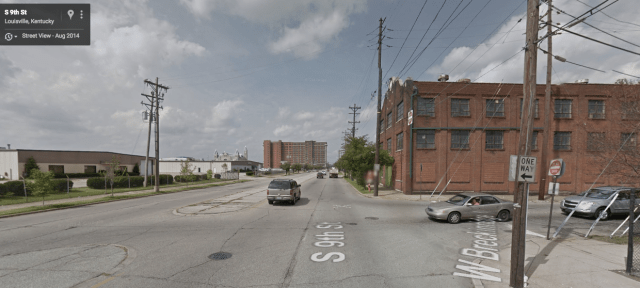 A view of 9th Street, which divides the East and West Ends of Louisville, KY. Credit: Google Maps