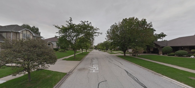 A typical street in Frankfort, IL, with large single-family homes. Credit: Google Maps