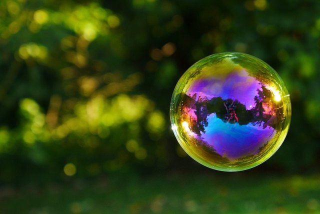 Things look different in a bubble (Flickr: zactionman)