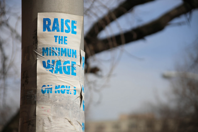 Raise the minimum wage. (Flickr: Paul Sableman)