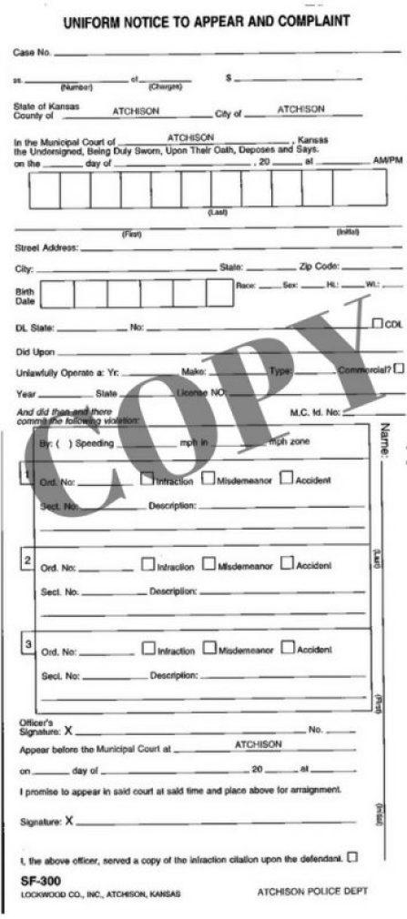 city-police-ticket