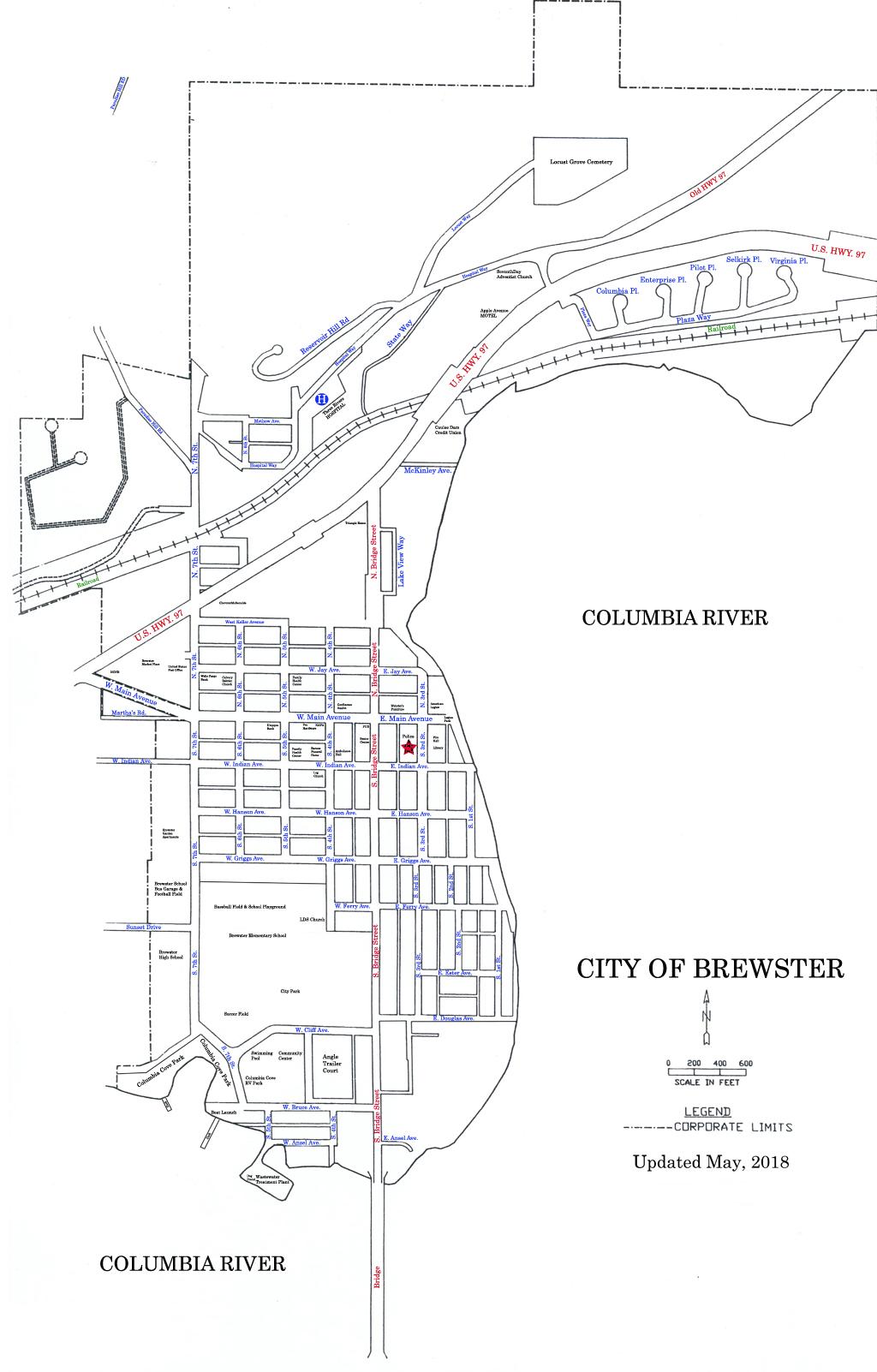 City of Brewster Street Map_medium size