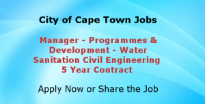 City of Cape Town Vacancies-Civil Engineering Job