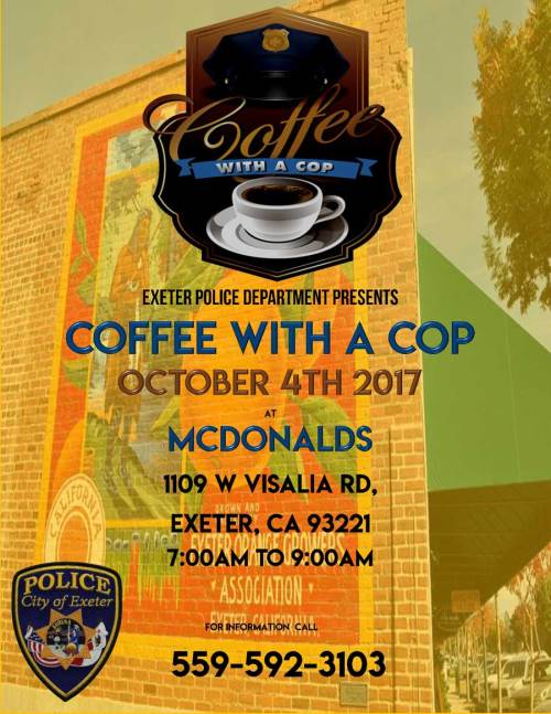 Coffee With A Cop poster