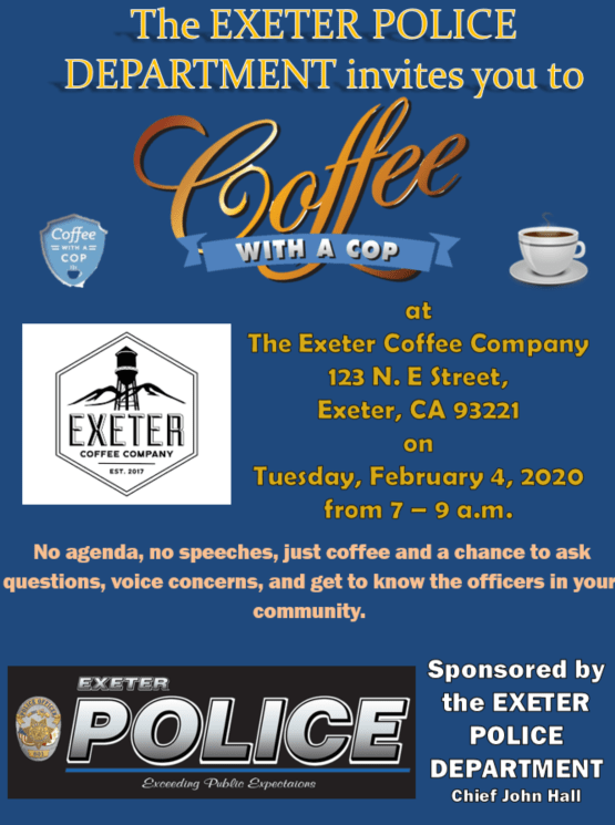Exeter Christmas Parade 2020 Coffee with a Cop   City of Exeter