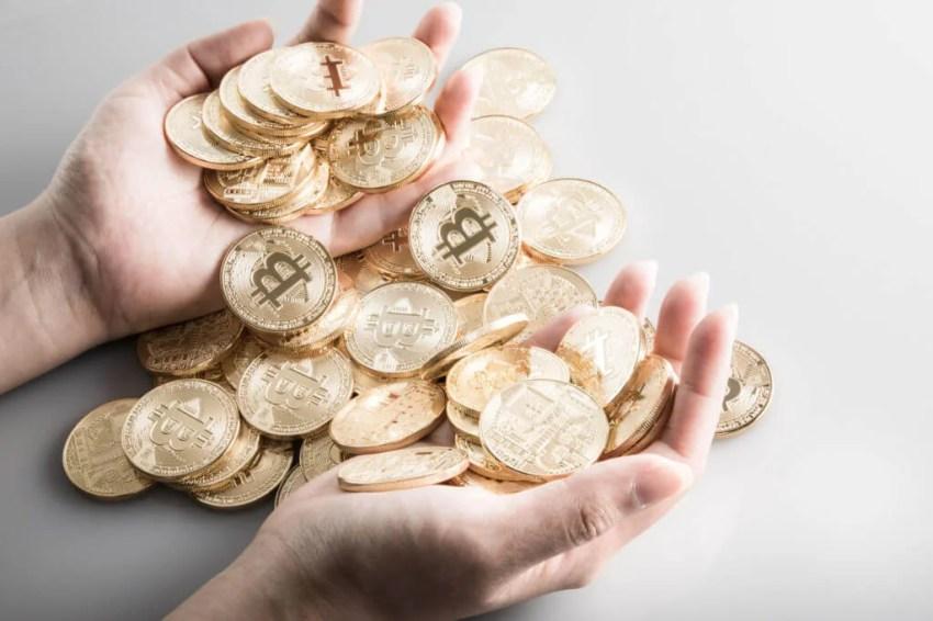 仮想通貨を手に入れる様子