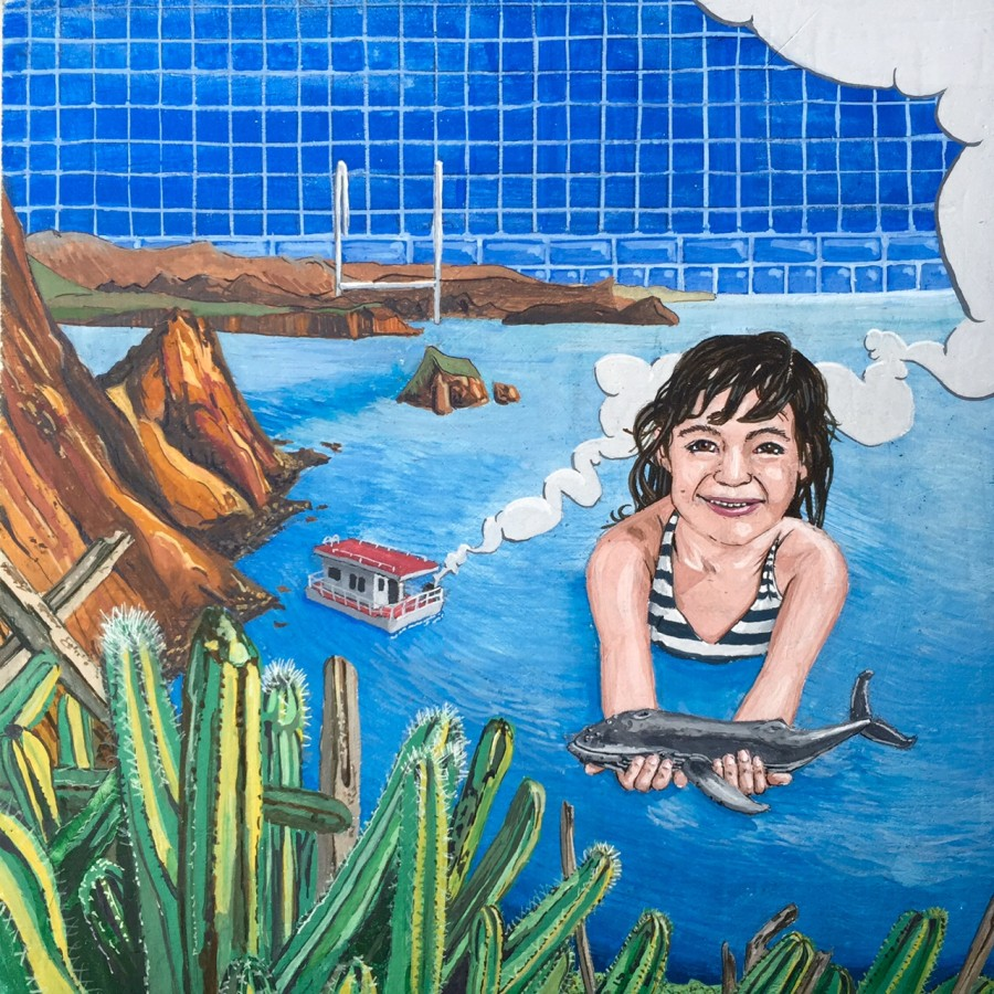 girl in sea of cortez