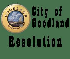 City of Goodland Resolution
