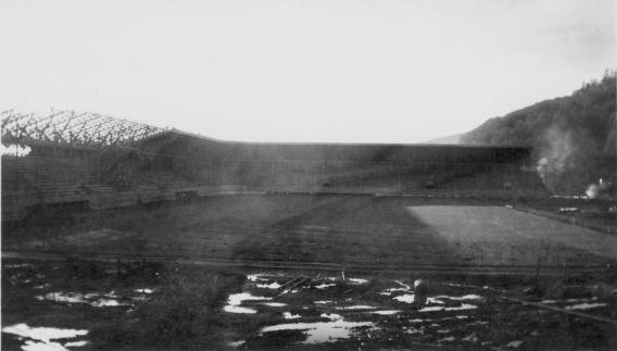 2008.016.0009 - Ball field at Olympic stadium, 1938