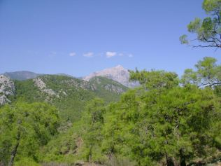 Mount Olympus (Tahtali) from Chimera (burning stones) - Antalya, Turkey