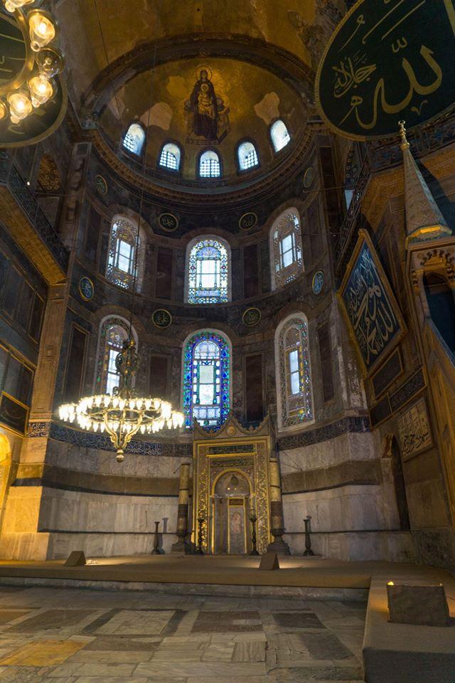 Inside Hagia Sophia