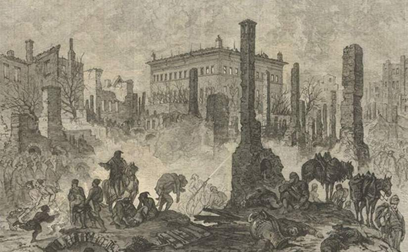 The Great Fire of Pera in 1870