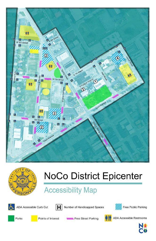 NoCo District Epicenter Accessibility Map