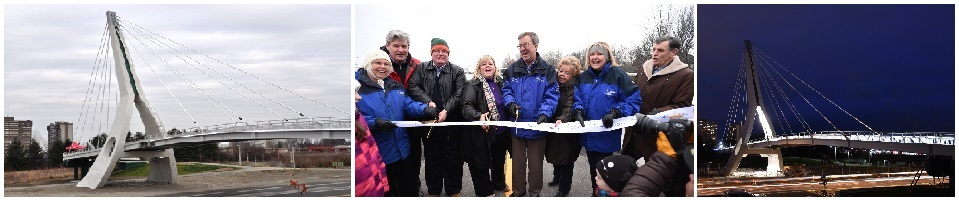 Photo of Airport Parkway and bridge opening celebration