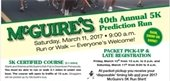 McGuire's 5K Prediction Run