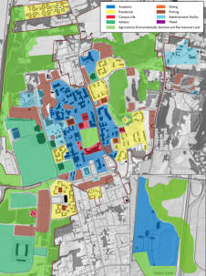 Campus Land Use Map, UMass Amherst Campus Master Plan, p. 70