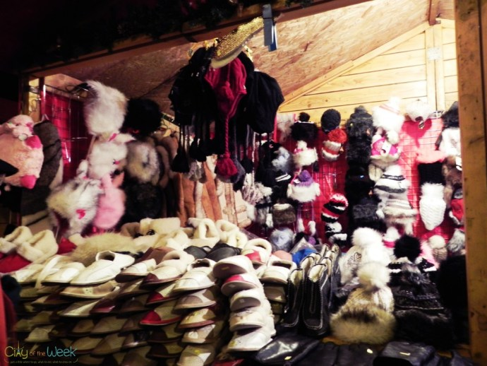 warm slippers at the Sibiu Christmas Market