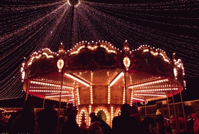 Merry-go-round at the Sibiu Christmas Market
