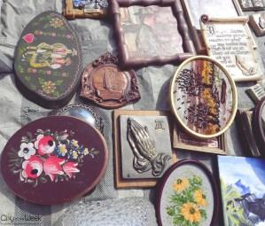 various items at the Tirgu Mures Flea Market