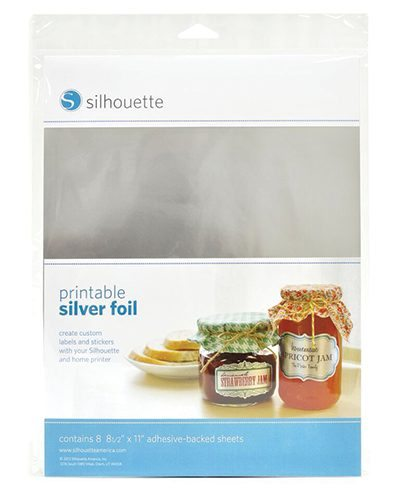 Silhouette printbaar printbare zilver stickervellen printable adhesive sticker silver foil paper MEDIA-SVR-ADH 814792012253 Cityplotter Zaandam