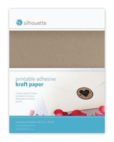 Silhouette printbaar printbare karton stickervellen kraftpapier printable adhesive sticker foil kraft paper MEDIA-KFT-ADH-3T 814792012734 Cityplotter Zaandam