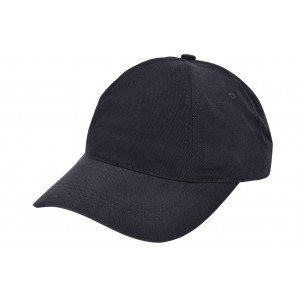 Pet zwart cap black om te bedrukken Brushed promo cap