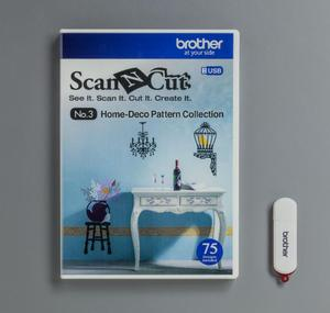 BROTHERSCANNCUT 3D Paper Craft Pattern Collection NO.3 50 desings CAUSB3 (XG1866-001) 4977766747561 Cityplotter Zaandam