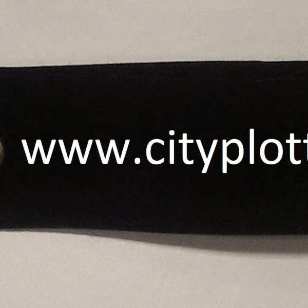zwart sleutelhanger vilt cityplotter zaandam