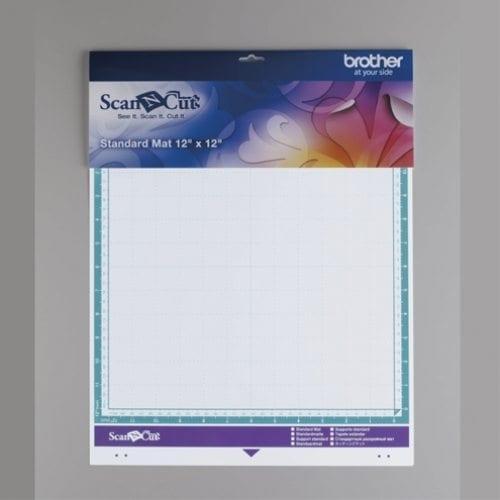 BROTHER SCANNCUT SNIJMAT MEDIUM standaard PLAKKENDE MAT 305mm x 305mm standard mat middle tack adhesive mat 12 X 12 INCH CAMATSTD12 4977766777223 Cityplotter Zaandam