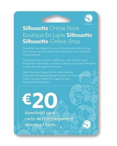 Silhouette online winkel kaart 20 euro online store License Key download card ter waarde van 20 euro SILH-20DNLD-EUR 814792013106 Cityplotter Zaandam