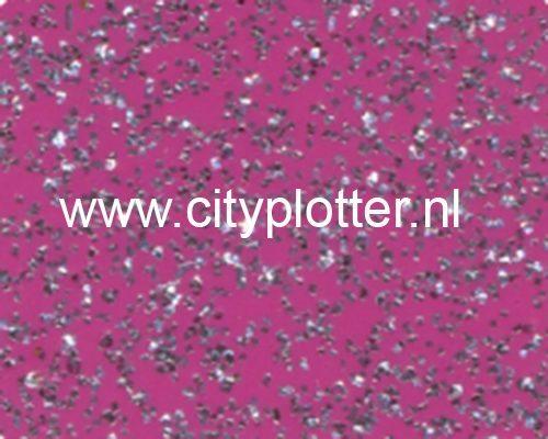 Flexfolie Speciaal Glitter Zwart / Zilver Flexfoil Glitter Black / Silver SS 3710 Cityplotter Zaandam