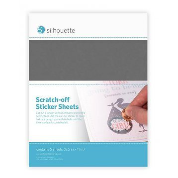 Silhouette Scratch-off sticker silver sheets kras af stickervellen zilver MEDIA-SCRATCH-SVR 814792019092 Cityplotter Zaandam