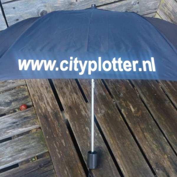 paraplu bedrukt cityplotter zaandam
