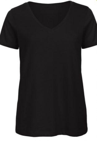 zwart shirt dames v hals cityplotter zaandam