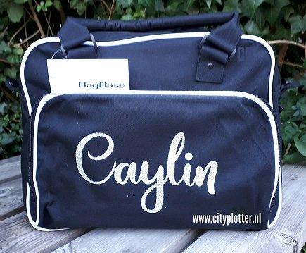 dance bag luiertas met naam cityplotter zaandam