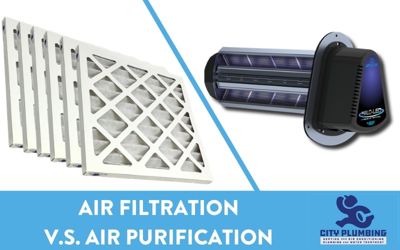 air filters and an air purification system compared