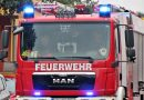 Strohmiete in Brand geraten