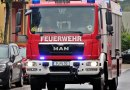 Kleintransporter in Brand