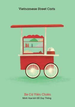 Xe cá viên chiên (Fishball cart) - Buy some sticks and omnom on your way