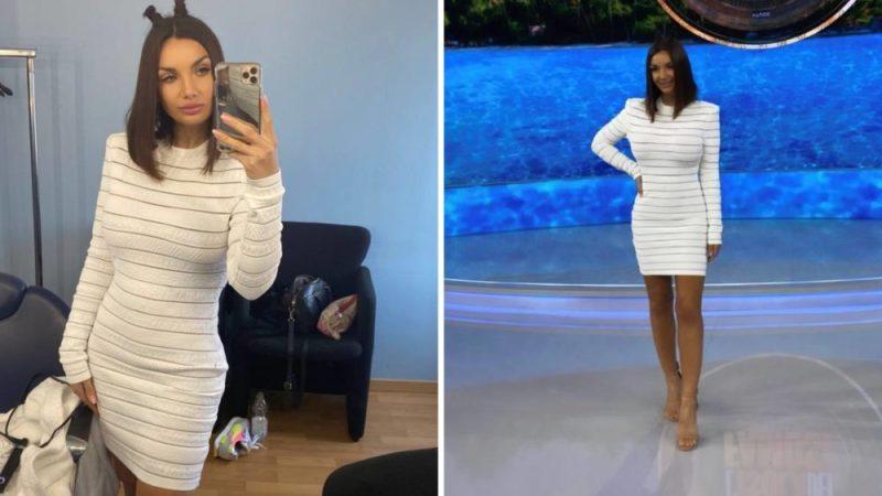 elettra-lamborghini-outfit-all'isola:-abito-costoso-e-scarpe-economiche