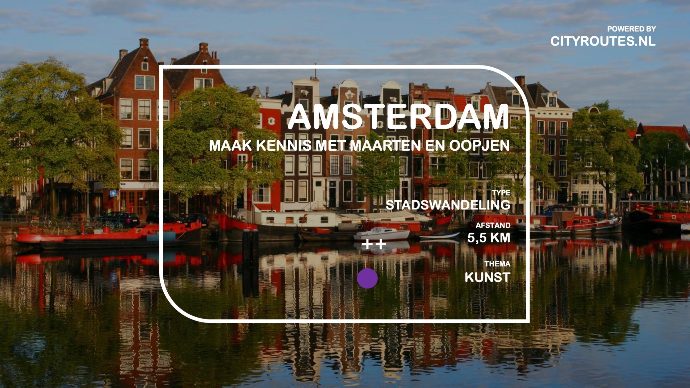 Gratis stadswandeling Amsterdam Maarten en Oopjen