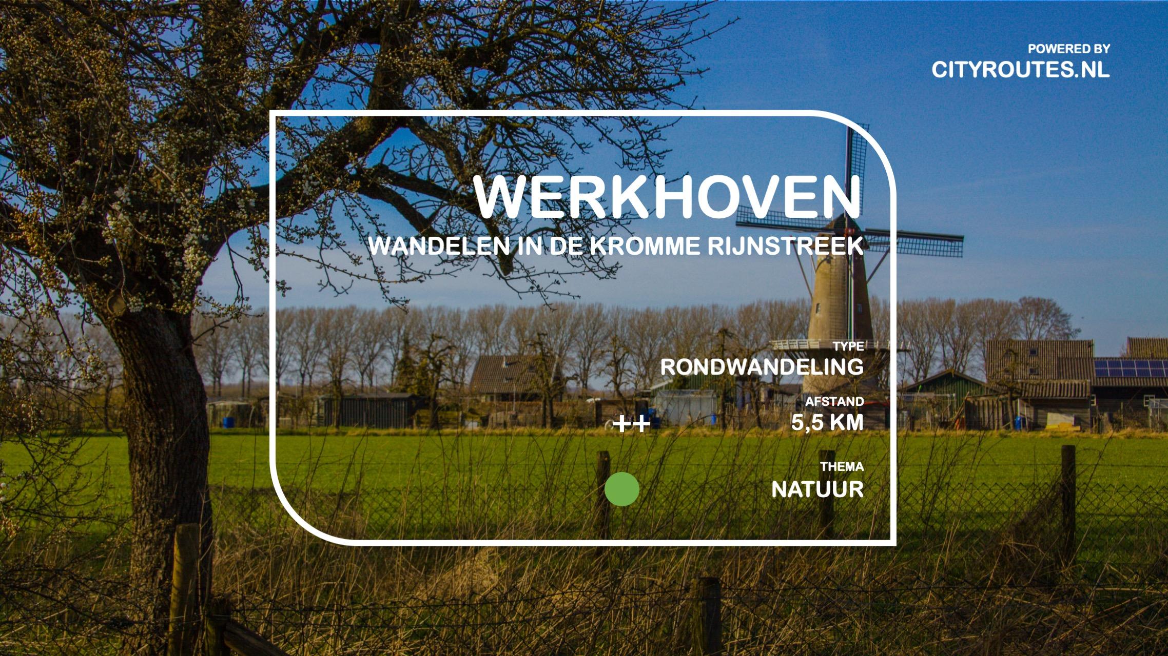 Gratis wandeling Werkhoven Cityroutes